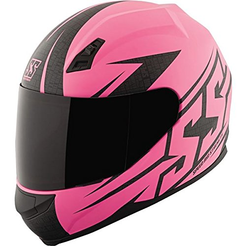 Speed and Strength SS700 Hamer Down Matte Pink Full Face Helmet, M