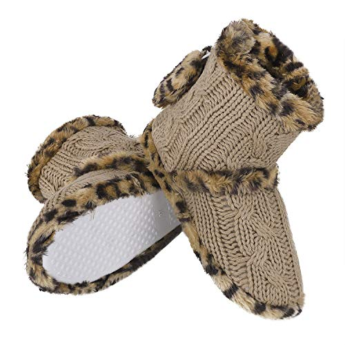Slip Ankle Warm Winter Knit GRE Tan Floor High Fleece Indoor Greenery Light Snow Socks Slippers Boots Non Cotton Lined Women's Cable wa1nxA