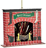 Department 56 Here Comes Santa Claus Fireplace Ornament