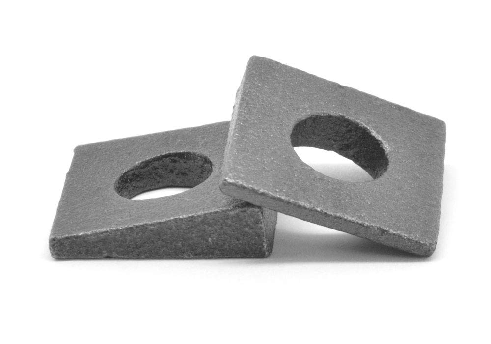 3/8'' Square Beveled Malleable Washer Malleable Iron Plain Finish Pk 25 by ASMC Industrial