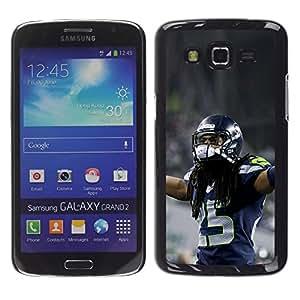 EJOY---Cubierta de la caja de protección la piel dura para el / Samsung Galaxy Grand 2 / --fútbol americano