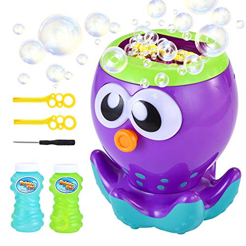 LUKAT Bubble Machine for Kids Toddlers Automatic Bubble Maker with 1000+ Bubbles per Minute, Bubble Blower for Party, Outdoor & Indoor Games, Best Bubble Toys and Gifts for Boys and Girls (No Spill Bubble Machine)