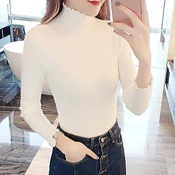Conjunto Cuello Gaolim Alto Invierno Mujer Camisa Otoño De Camiseta 3Aqc5Lj4R
