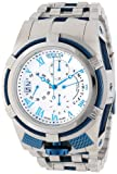 Invicta Men's 12668 Bolt Reserve Chronograph Silver Textured Dial Stainless Steel Watch, Watch Central