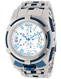 Invicta Men's 12668 Bolt Reserve Chronograph Silver Textured Dial Stainless Steel Watch