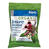 Zand HerbaLozenge Organic Insure Herbal | Throat Lozenges W/Echinacea | No Corn Syrup, No Cane Sugar, No Colors | 1 Bag, 18ct. Review
