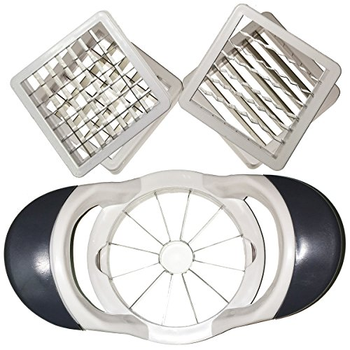 Deluxe Multi Apple Slicer 5 Interchangeable Metal Blade Inserts Apple Corer Attachment Fries Potatoes Eggs (Deluxe Potato Cutter compare prices)