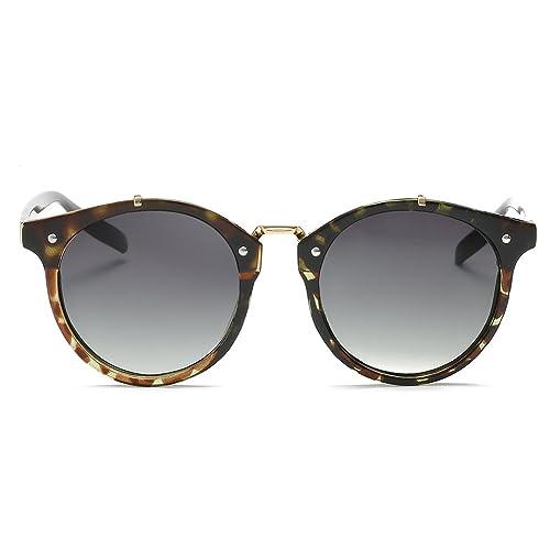 iShine Casual Moda Pequeña Ronda Gafas de Sol Vintage Retro Circle Metal Frame para las Mujeres