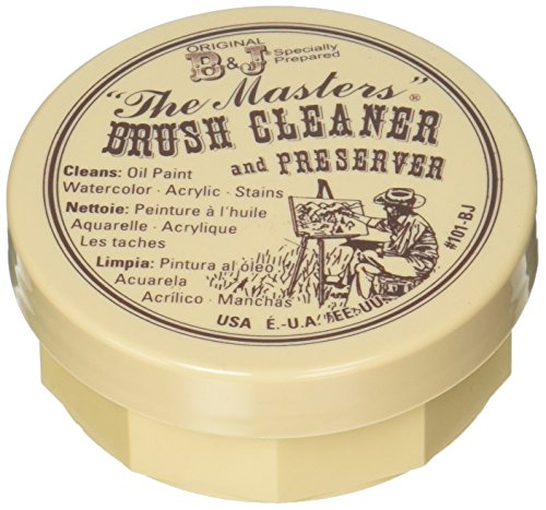 General Pencil 105-BP The Masters Brush Cleaner & Preserver 2.5 Ounces Carded- -