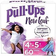 Pull-Ups New Leaf Girls' Potty Training Pants Training Underwear, 4T-5T, 6