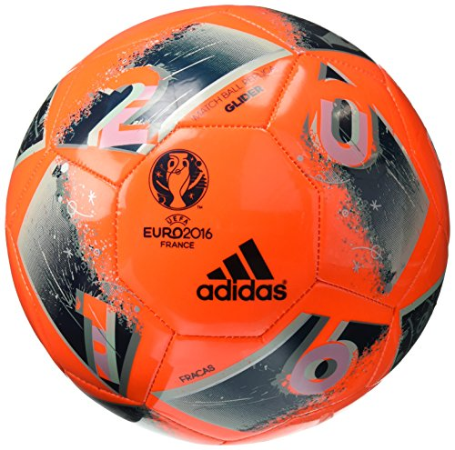 (adidas Performance Euro 16 Glider Soccer Ball, Solar Orange/Utility Green/Ice Green/Vapor Steel Grey, Size 4 )