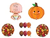 Cutest Lil Little Pumpkin in the Patch Fall Baby Shower Party Balloons Decorations Supplies