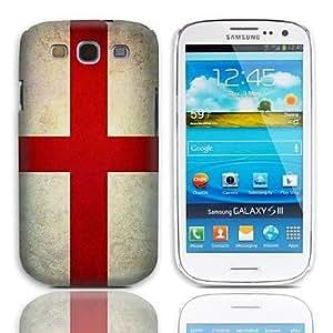 HC-Vintage La bandera de ST. George patrón duro caso con paquete de 3 protectores de pantalla para Samsung Galaxy S3 I9300
