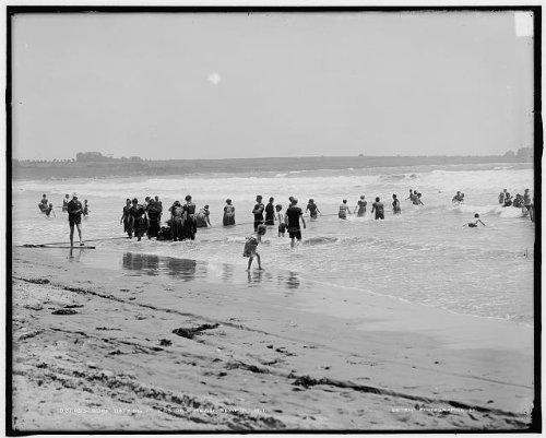 Photo: Surf bathing,beaches,swimmers,waves,Easton's Beach,Newport,Rhode - Newport Shopping Rhode Island