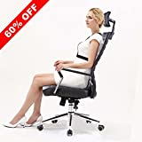 X-Office Executive PU Leather Computer Office Chair Black Desk Chair with High Back and Adjustable Headrest,Reclining Accent Chair with Tilt Lock