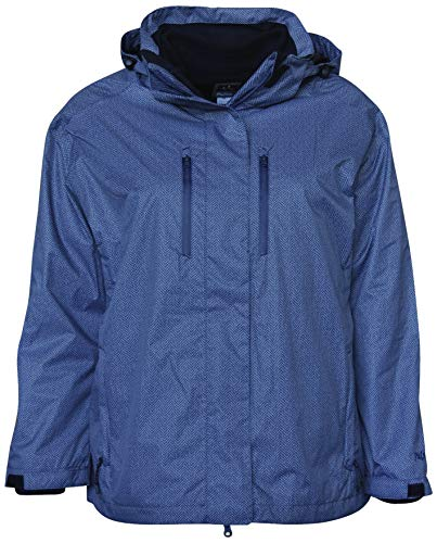 Pulse Women's Plus Extended Size 3in1 Boundary Snow Ski Jacket Coat (4X (26/28), Blue Grey Zig) ()