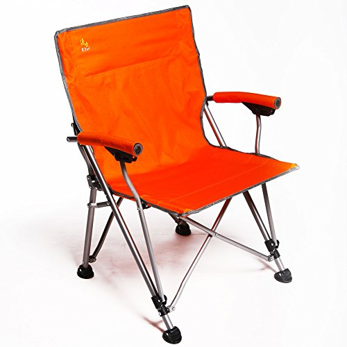 Outdoor Folding Camping Chair, Canvas Recliners American Lounge Chair Portable Fishing Chair Leisure Chair Beach Chair Moon Chair Heavy Duty 350 lb Capacity with Carry Bag-Orange W60xH93cm(24x37inch)