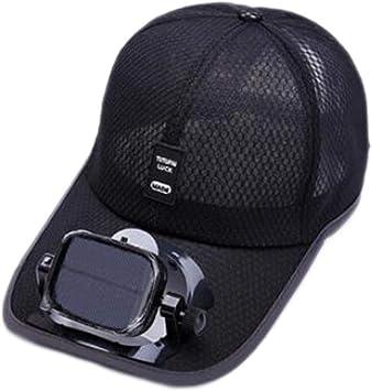 ANHPI Enfriamiento del Ventilador Sombrero de Beisbol Carga Dual USB Solar al Aire Libre Sombra Protector Solar Gorro de Viaje Deportivo, 5 Colores (Color : #1, Size : Head Circumference (56-62cm)): Amazon.es: