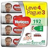 Lenços Umedecidos Huggies Max Clean, pacotes de 48 toalhas - Leve 4 pague 3