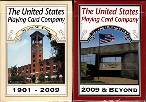 Poker Set Commemorative (United States Playing Card Co Commemorative 2 Deck Set Poker Size Limited Rare)