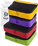 4 Travel Packing Cubes For Luggage/Suitcase + 6 Toiletry and laundry Organizers