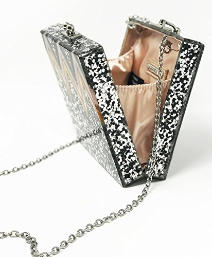 Bag Handbag Square Box Crossbody Clutch Junque��s Evening Silver Strap Funky Chain Purse qv6pfanwn