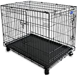 Simply plus Cage pour chien à double porte et roulettes, 61cm, noire
