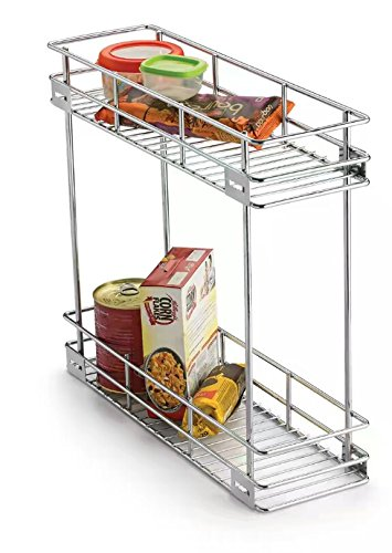 Ordinaire Reviko Stainless Steel Double Pullout Modular Kitchen Basket (8x20x17 Inch)