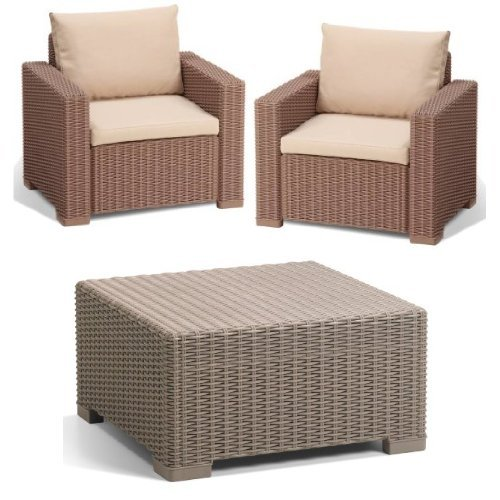 Allibert California Balcony Set, cappuccino