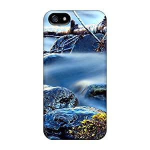 New Premium Flip Case Cover Smooth Water Flow Skin Case For Iphone 5/5s