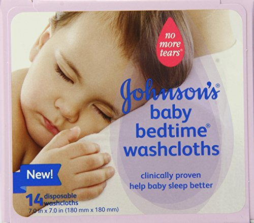 Johnson's Baby Bedtime Disposable Washcloths, 14 Count (Disposable Hospital Washcloths)