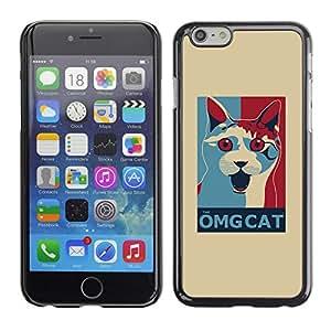Vortex Accessory Carcasa Protectora Para APPLE iPHONE 6 PLUS ( 5.5 IN ) - Omg Cat Funny Poster Quote White -