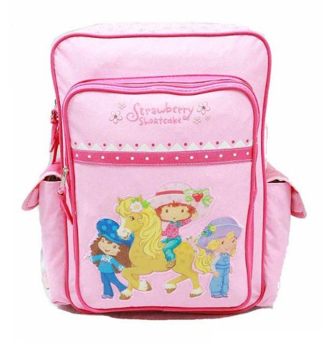 (Strawberry Backpack Shortcake - Large Backpack - Pink)
