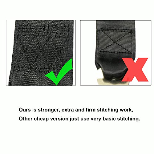 2 Point Adjustable Seat Safety Belt, Lap Durable Polyester Fabric Safety Belts Buckle Car Vehicle Truck Seat Belts,Suitable for UTV, Buggies,Club Golf Cart,Go Kart, Van, VR, Truck, Cars and Vehicles by Fancitemy (Image #4)