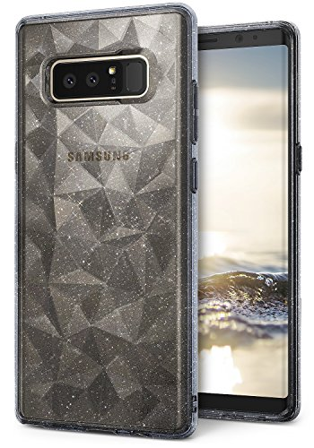 Ringke [Air Prism Glitter Compatible with Galaxy Note 8 Case Sparkle Stylish Pattern Full-Body Textured Protective TPU Drop Resistant Cover for Samsung Galaxy Note8 – Glitter Gray