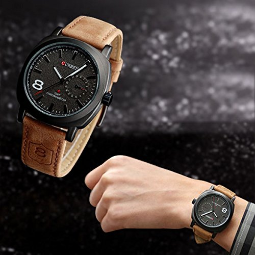 vktech® fashion curren men sport military water quartz watch vktech® fashion curren men sport military water quartz watch leather strap black in the uae see prices reviews and buy in dubai abu dhabi