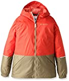 Columbia Big Boys' Hot On The Trail Rain Jacket, Super Sonic/Delta, Small