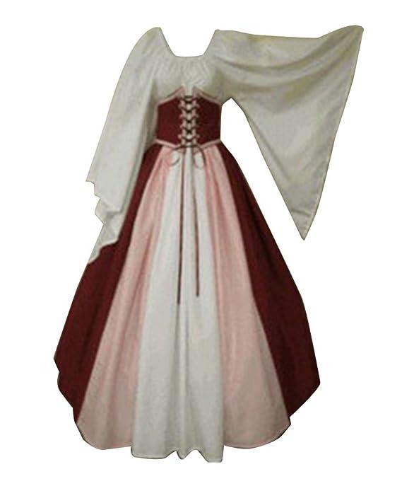 Guiran Vestido de Traje Medieval Renacentista para Mujer Vestidos Largo: Amazon.es: Deportes y aire libre