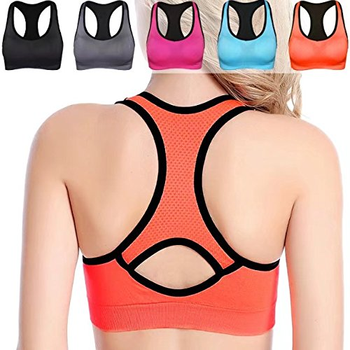 WOZHIFU Women's Racerback Sports Bra,High Impact Support Wirefree Workout Gym Yoga Activewear Bra