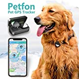 PETFON Pet GPS Tracker, No Monthly Fee, Real-Time Tracking Collar Device, APP Control for Dogs and Pets Activity Monitor (Dog Tracker)