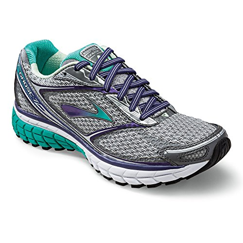 BROOKS Women's Ghost 7 Shoes Silver / Mulberry Purple / P...