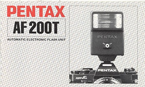 - Pentax AF200T Automatic Electronic Flash Unit Original Instruction Manual