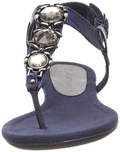 Marco Sandales Tozzi Navy Bride 28143 Bleu Cheville Metallic Femme qOUqfw