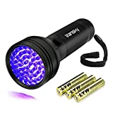 Vansky UV Flashlight Black Light For Pet Urine Detection - 51 LED Ultraviolet Detector For Dog Cat Urine - Dry Stains - Bed Bug On Carpets Rugs Floor(3AA Batteries Included)