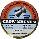 Beeman Crow Magnum .25 Cal, 26.23 Grains, Hollowpoint (150 Count)