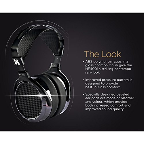 HIFIMAN HE400i Special Edition Over Ear Planar Magnetic Headphones Dark Blue Chrome by HIFIMAN