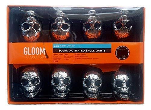 Sound Activated Skull Lights - LED Indoor Light Set 8 Battery Operated Lights [並行輸入品] B07R8PTLM7