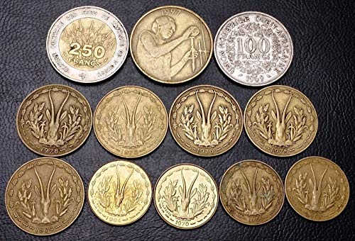 Collection of 12x West Africa Coins - Date Range 1965 for sale  Delivered anywhere in Canada