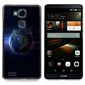 Cool Planet Earth From Space Caja protectora de pl??stico duro Dise?¡Àado King Case For HUAWEI Ascend Mate 7
