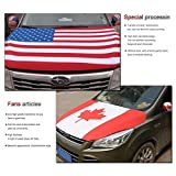 Mexico Flag Car Hood Cover 3.3X5FT